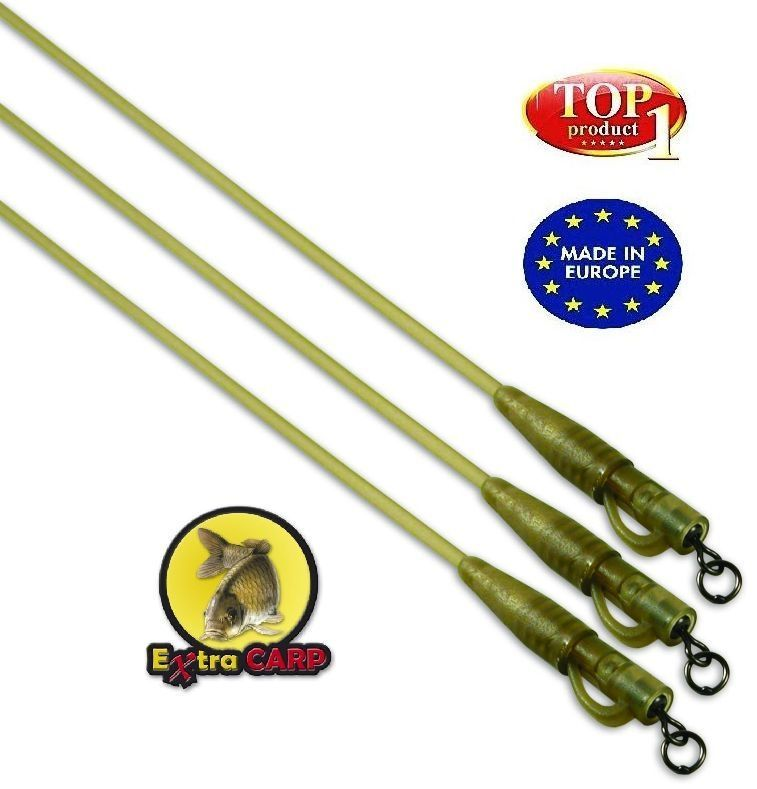 Koncová montáž Extra Carp Safety Clips with Camo Tubing