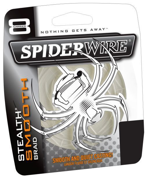 Šňůra Spiderwire Stealth Smooth8 Braid průhledná 150m
